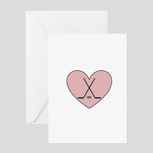Hockey Heart Greeting Card