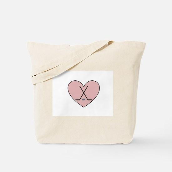Hockey Heart Tote Bag