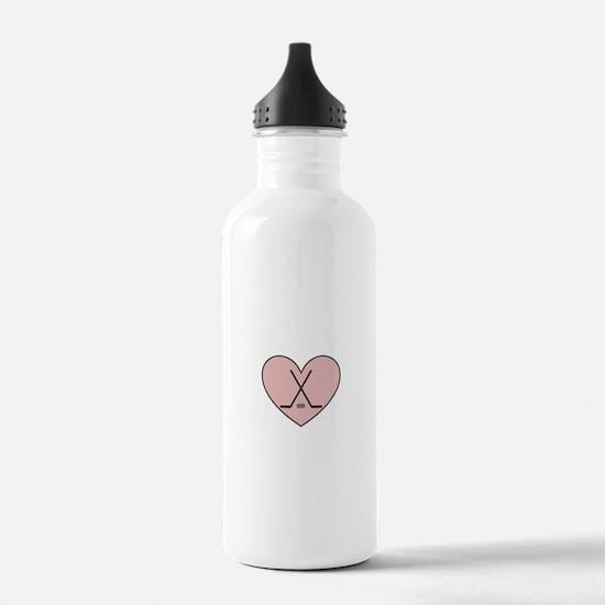 Hockey Heart Water Bottle