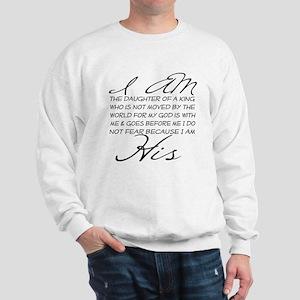 I am His script letters Sweatshirt