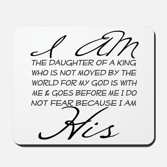 I am His script letters Mousepad