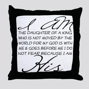 I am His script letters Throw Pillow