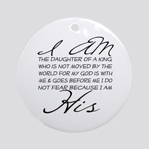 I am His script letters Ornament (Round)