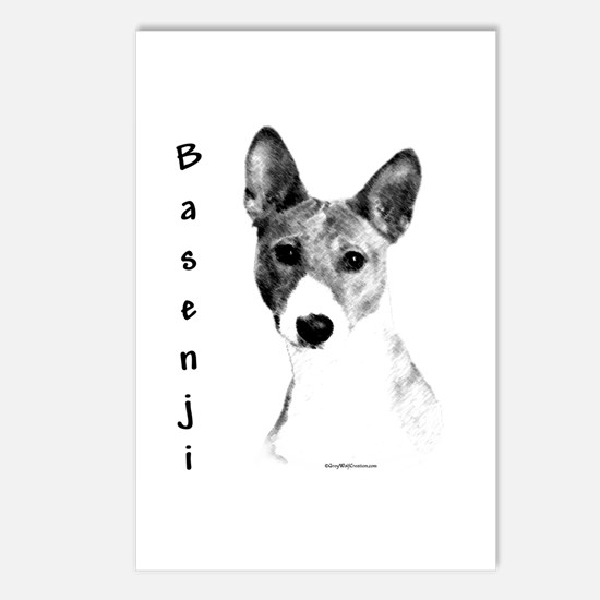 Basenji Charcoal Postcards (Package of 8)