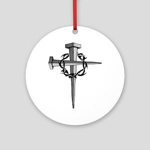 Nail Cross Ornament (Round)