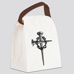Nail Cross Canvas Lunch Bag