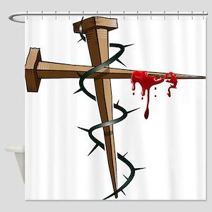 Nail Cross Shower Curtain