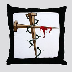 Nail Cross Throw Pillow
