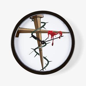 Nail Cross Wall Clock