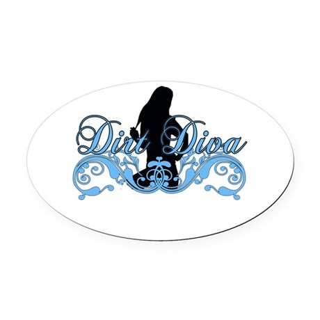 dirtdiva 2013 Oval Car Magnet