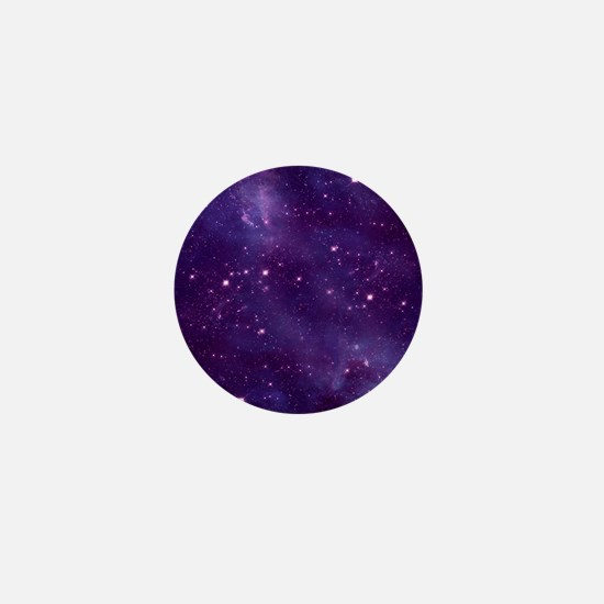 Purple Space Pattern Mini Button