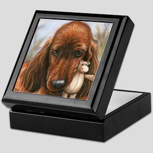 Irish Setter Pup by Dawn Secord Keepsake Box