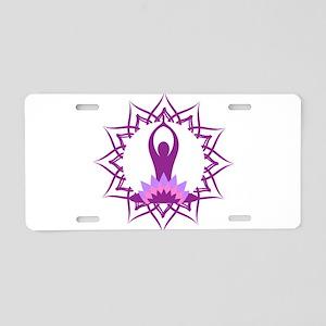 Yoga Design Aluminum License Plate