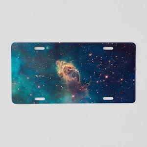 Space Nebula Aluminum License Plate