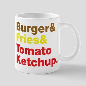 Burger and Fries and Tomato Ketchup. Mug