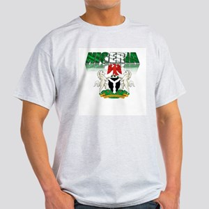 Coat of arms with text Ash Grey T-Shirt