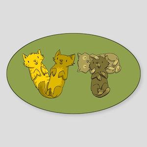 Vermont Cats (green) Sticker