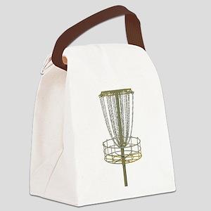 Disc Golf Basket Frisbee Frolf Canvas Lunch Bag