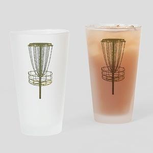 Disc Golf Basket Frisbee Frolf Drinking Glass