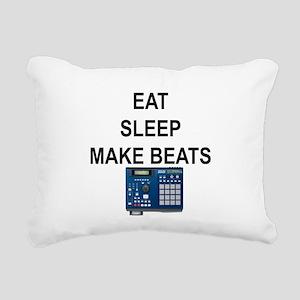 eatsleepmakebeats Rectangular Canvas Pillow