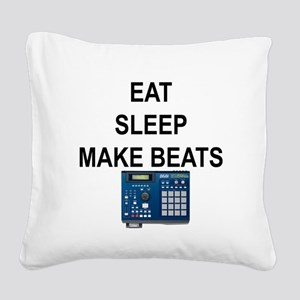 eatsleepmakebeats Square Canvas Pillow