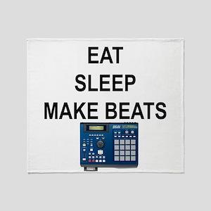 eatsleepmakebeats Throw Blanket