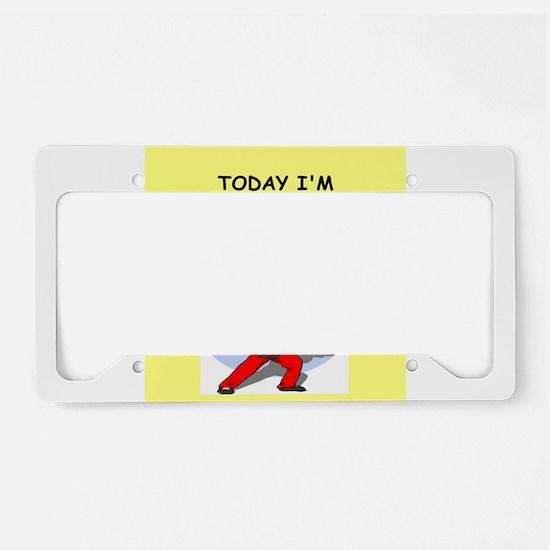 martial arts License Plate Holder