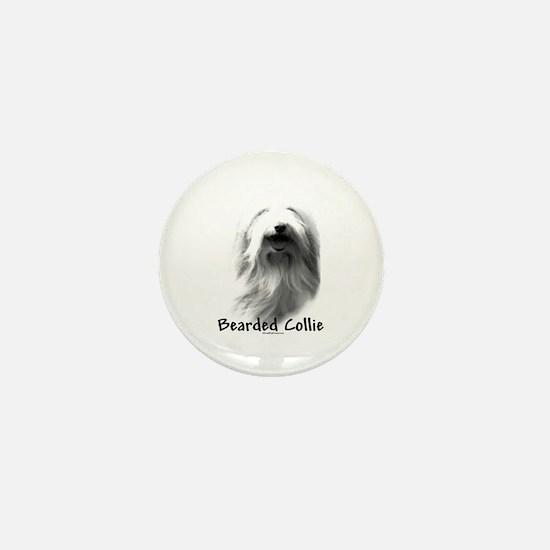 Bearded Charcoal Mini Button