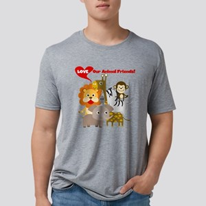 Animal Friends Mens Tri-blend T-Shirt