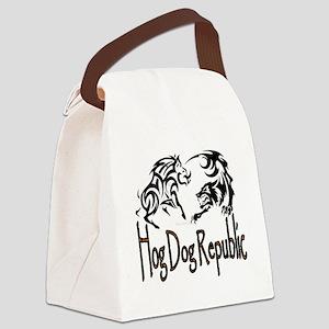 Hog Dog Republic Logo Canvas Lunch Bag