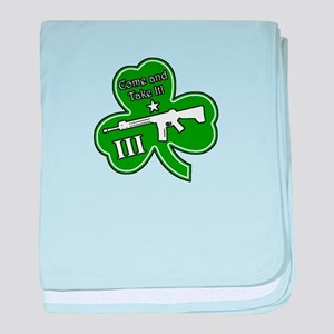 Come and Take It (Shamrock) baby blanket