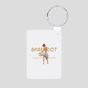 Barefoot Girl Aluminum Photo Keychain