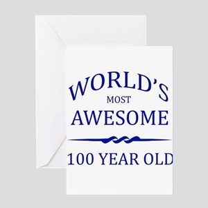 World's Most Awesome 100 Year Old Greeting Card