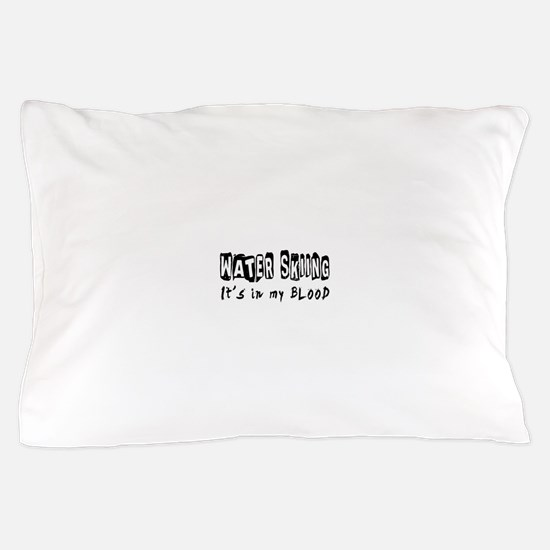 Water Skiing Designs Pillow Case
