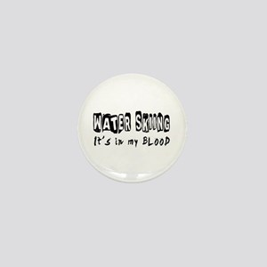 Water Skiing Designs Mini Button