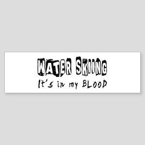 Water Skiing Designs Sticker (Bumper)