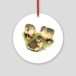 Pomeranian Goslings Ornament (Round)