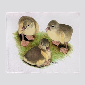 Pomeranian Goslings Throw Blanket