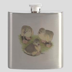 Pomeranian Goslings Flask