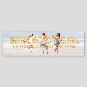 Barefoot Girl Sticker (Bumper)