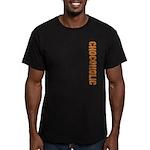Chocoholic Men's Fitted T-Shirt (dark)
