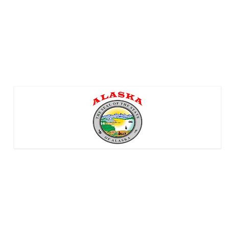 Alaska State Seal 36x11 Wall Decal