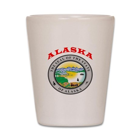 Alaska State Seal Shot Glass