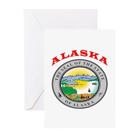 Alaska State Seal Greeting Cards (Pk of 20)