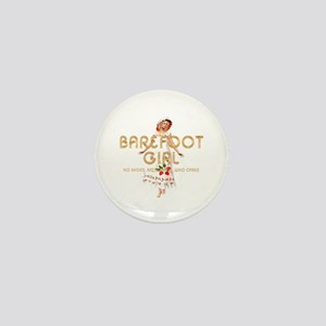Barefoot Girl Mini Button