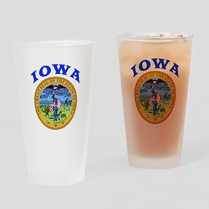 Iowa State Seal Drinking Glass