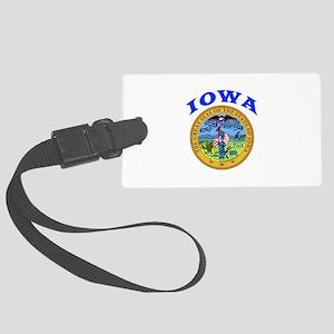 Iowa State Seal Large Luggage Tag