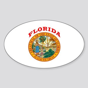 Florida State Seal Sticker (Oval)