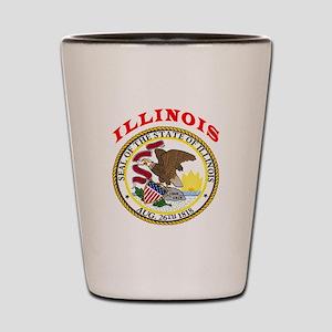 Illinois State Seal Shot Glass