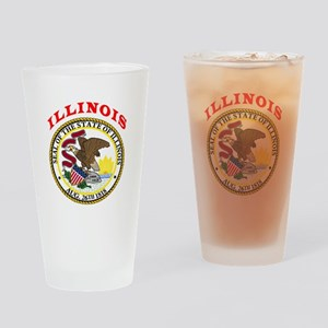 Illinois State Seal Drinking Glass